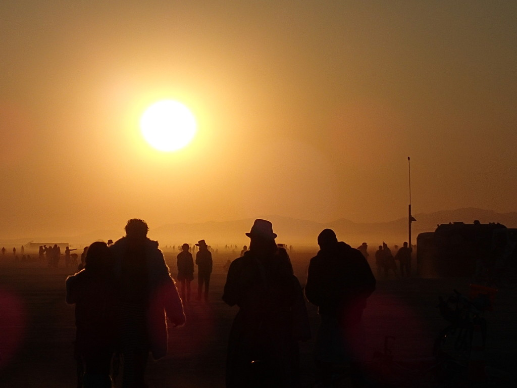 Burning Man 2014, 2014, sunsets, brc, crowd photo