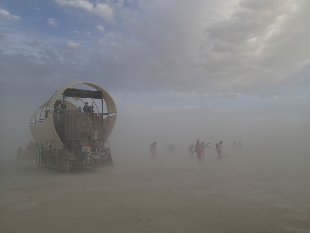 burning man, sandstorm, dancing, deep playa
