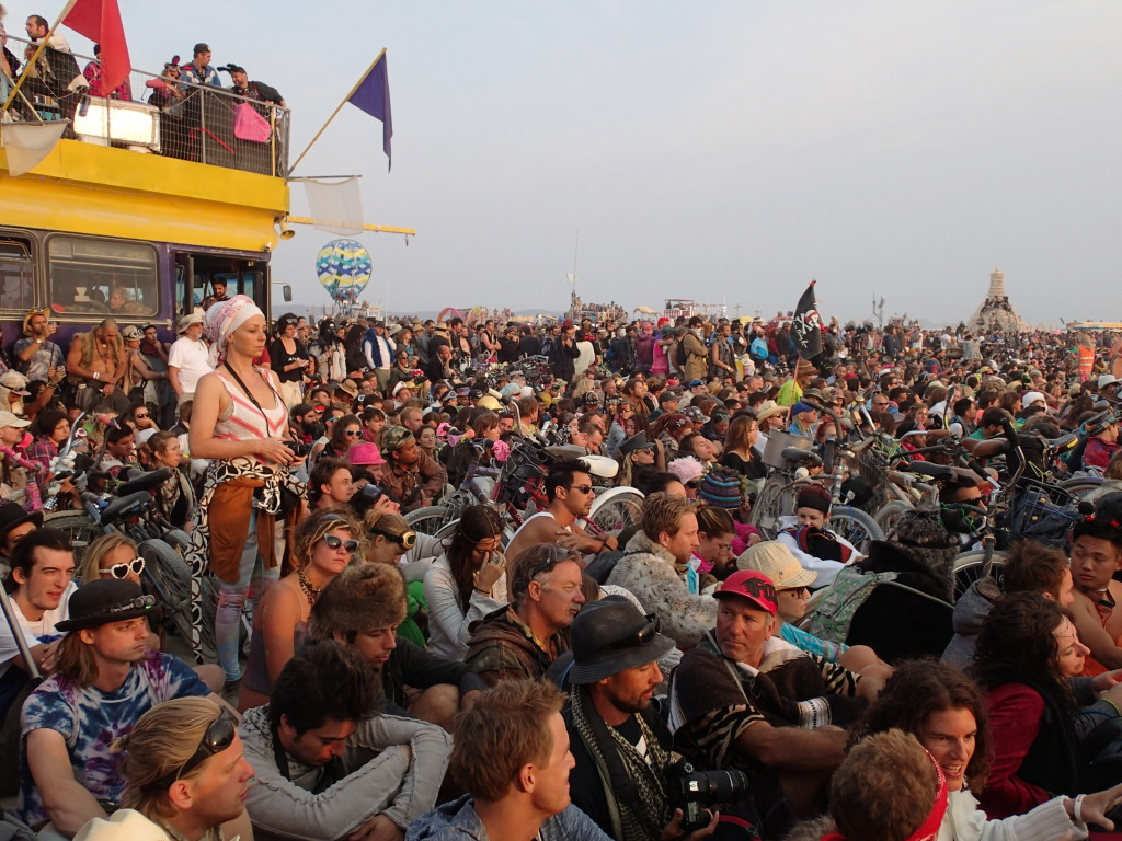 Burning Man Crowd Shot
