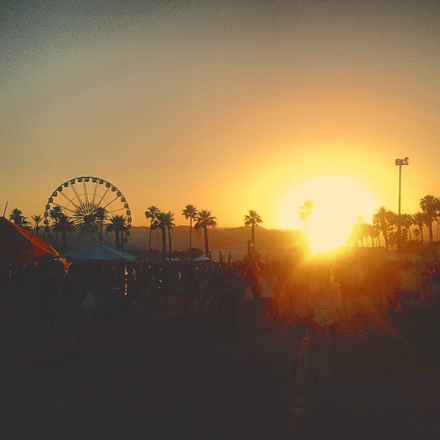 Coachella best photos, sunset photo, coachella, soul dynamic, amplifying sound culture