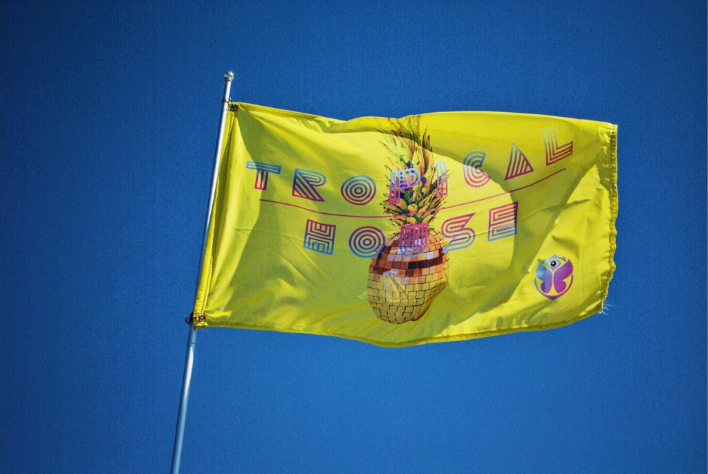 Tropical House Camp Flag