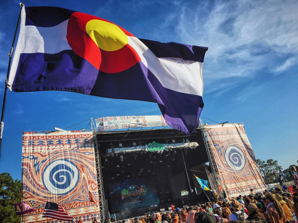 Colorado Flag, music festival, florida, omf