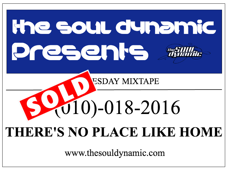 No Place Like Home, Tuesday Mixtape, soul dynamic, best spotify playlists, spotify, mixtape, the soul dynamic, triphop, edm, dance music